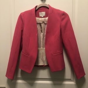 Loft Pink Pleated Work Casual Blazer 0P